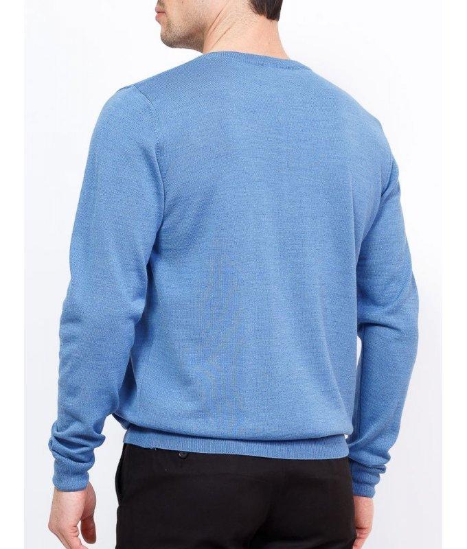 Пуловер Greg голубой, однотонный