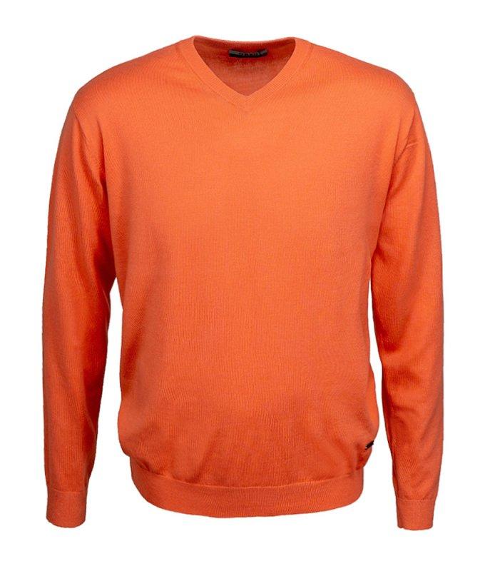 Пуловер Greg оранжевый, однотонный