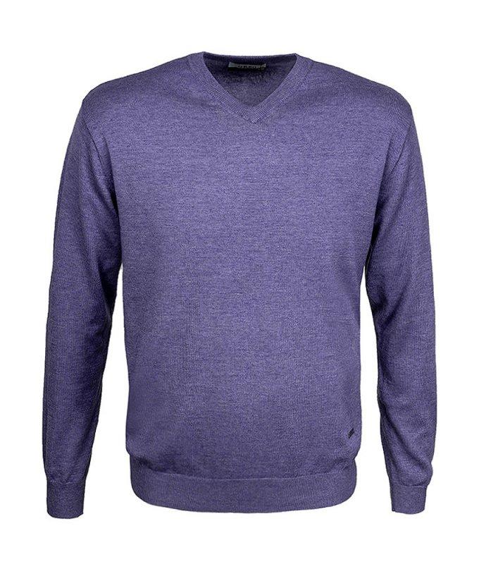 Пуловер Greg фиолетовый, однотонный