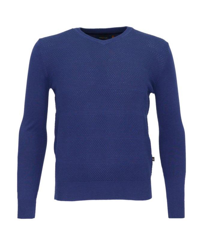 Пуловер Grostyle синий, мелкий орнамент