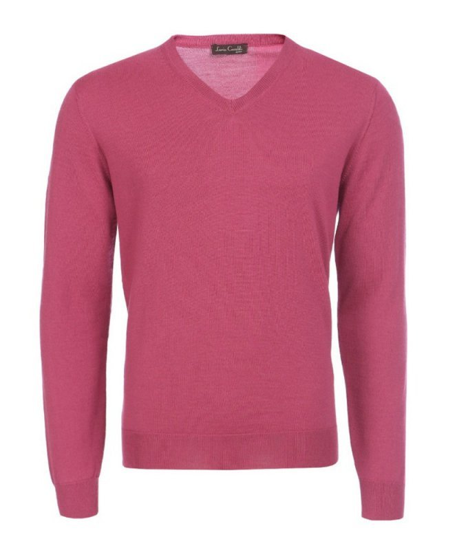 Пуловер Lario Covaldi розовый, однотонный