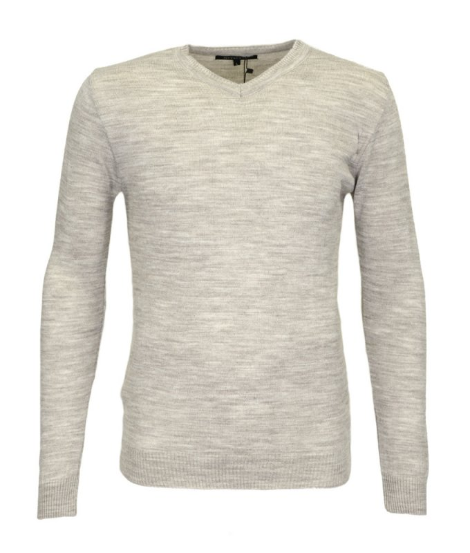Пуловер Svyatnyh бежевый/молочный, мелкий орнамент