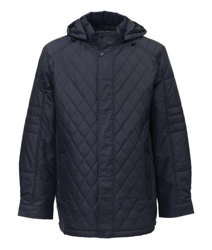 Куртка City classic синяя с капюшоном