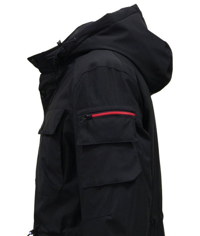 Куртка TAIS черная, с накладными карманами