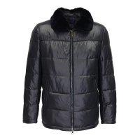 Куртка-пуховик TAIS черная, с меховым воротником