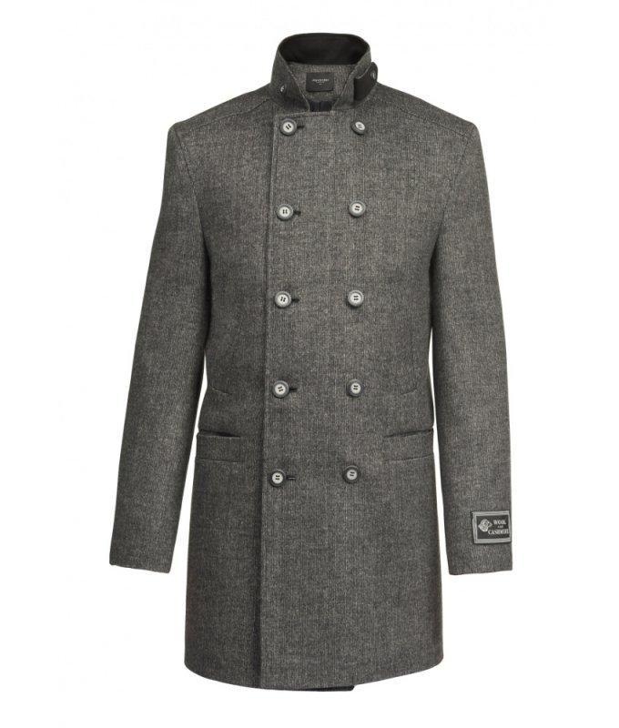 Пальто Alexander демисезонное, двубортное, серое